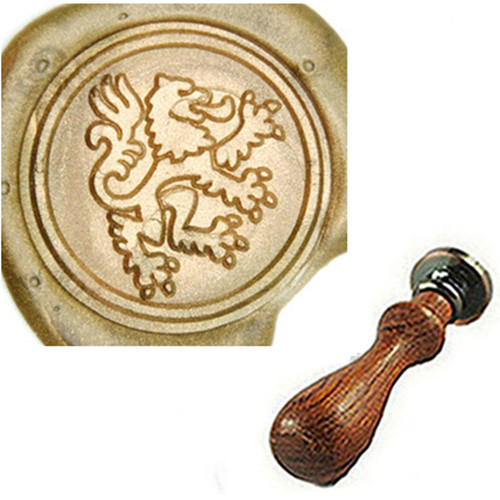 Vintage Retro Classical Heraldic Lion Wax Sealing Stamp Arts Crafts Wax Seal Stamp Metal Stamp Wedding Invitation Letter