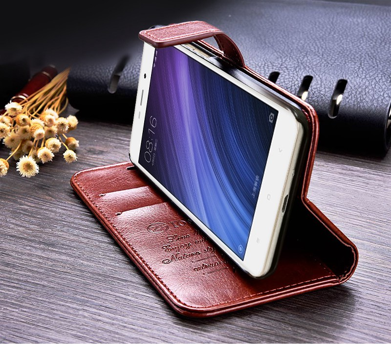 Business Case For Xiaomi Redmi 4A Cases Cover Flip Wallet Conque Case 5.0 Inch For Xiaomi Redmi 4A Cases Leather TOMKAS  (4)