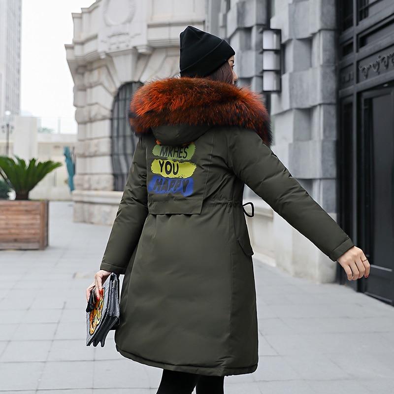 Manteau Bas Femmes Le Manteaux Vers Parkas côté Deux Coréenne army D'hiver Long Green black Coton Ayunsue Caramel Veste gray Mujer Porter Grande Parka red Kj672 2018 Fourrure De waqZZI8