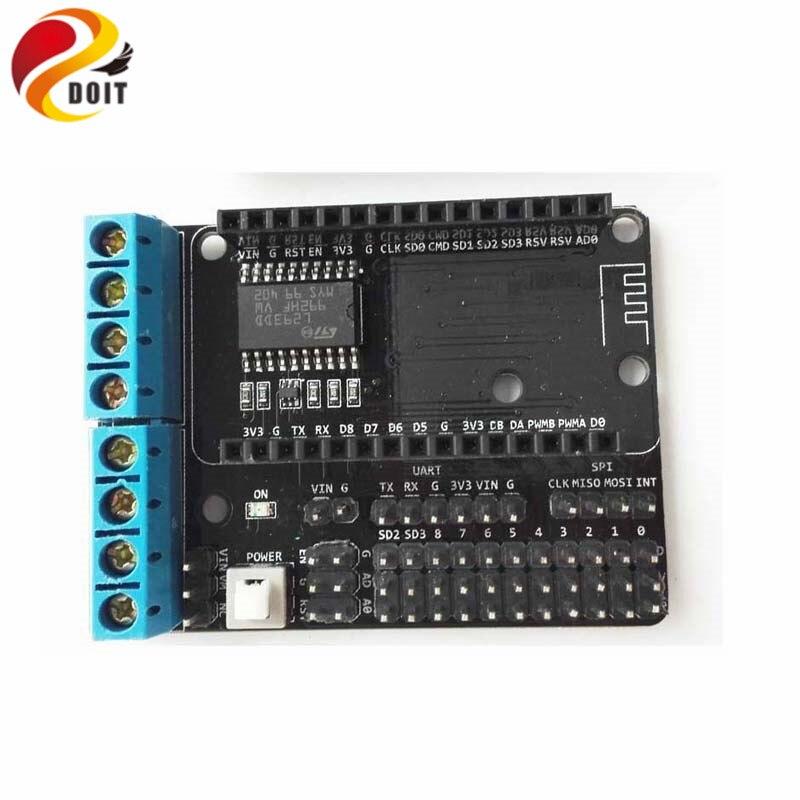 Official DOIT 5pcs/lot NodeMCU ESP 8266 WiFi Module Motor Shield Board L293D for ESP-12E/Remote Control Smart Car for DIY