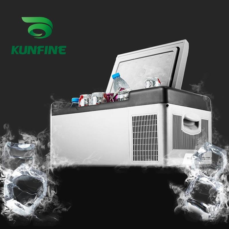 12-24V DC 110-240V AC Car Refrigerator 20L Multi-Function Fridge Vehicel Protable Refrigerator Freezer Cooler Grey low energy
