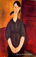 oil Painting for kids room Portrait of Paulette Jourdain by Amedeo Modigliani Hand painted High quality