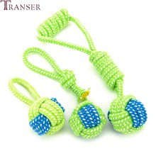 Ship From Us Transer Pet Supply Dog Toys Dogs Chew Teeth Clean Outdoor Traning Fun Playing Green Rope Ball Toy For Large Small Cat 71229
