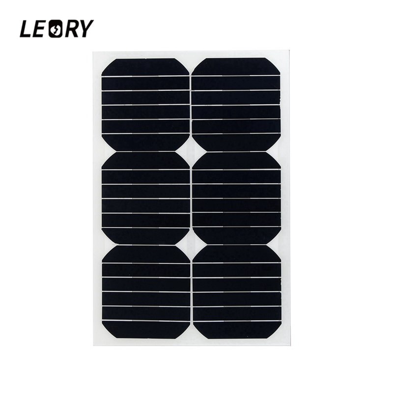 цена на LEORY 20W 12V Solar Panel Semi Flexible Monocrystalline Sun Power For RV Car Boat Battery Charger