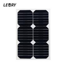 LEORY 20W 12V Solar Panel Semi Flexible Monocrystalline Sun Power For RV Car Boat Battery Charger