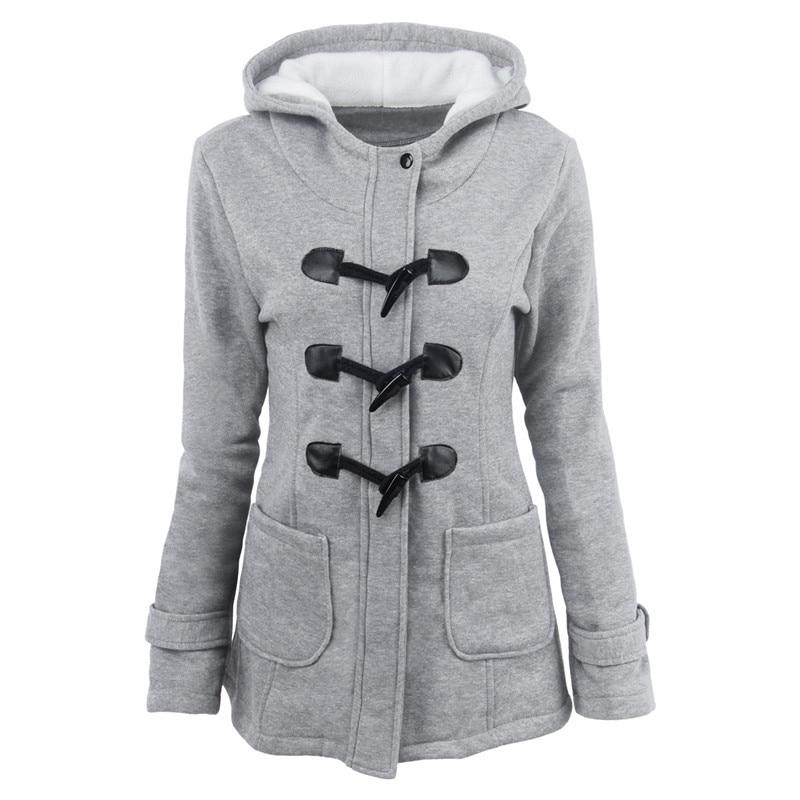 2018 warm winter fur collar jackets women new horn button Long   down     coat   women parka Plus Size female parka hoodies Women