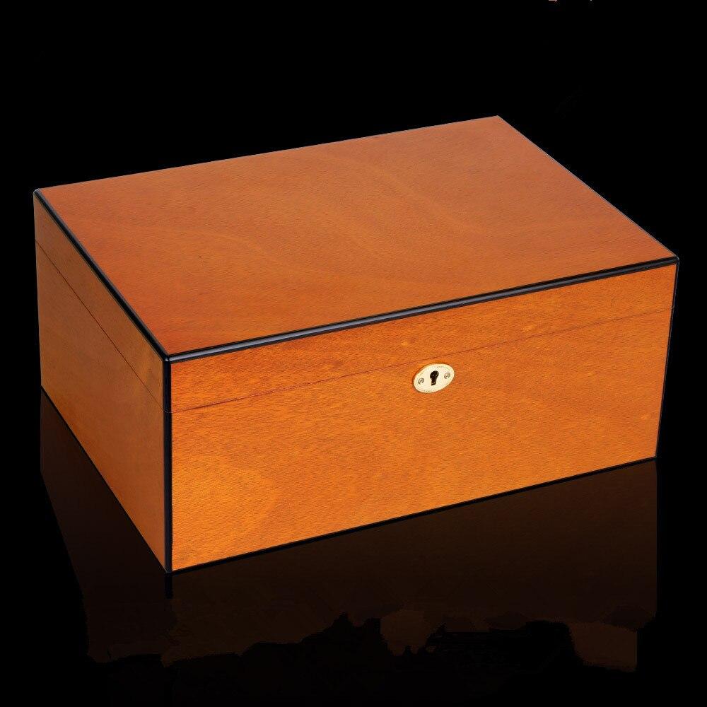 Boite Rangement Hermétique Cave de luxe en bois grande capacité cave À cigares boîte de