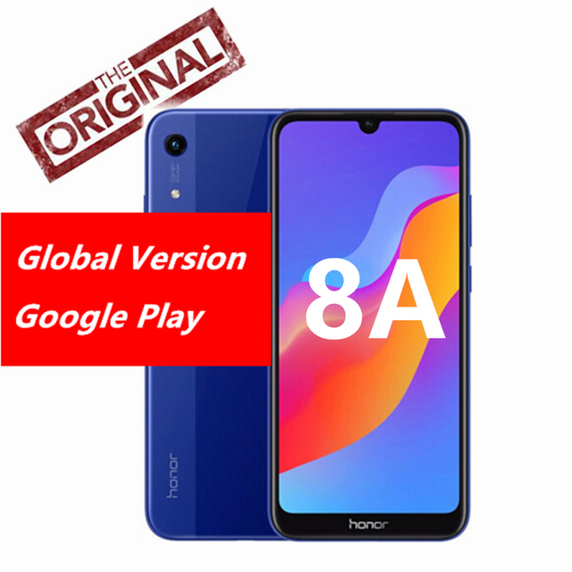 "Huawei Honor 8A Global Rom Smartphone Face ID 6.09"" Fullview MT6765 Octa Core Android 9 3 Card Slot Dual Camera LTE Phone"