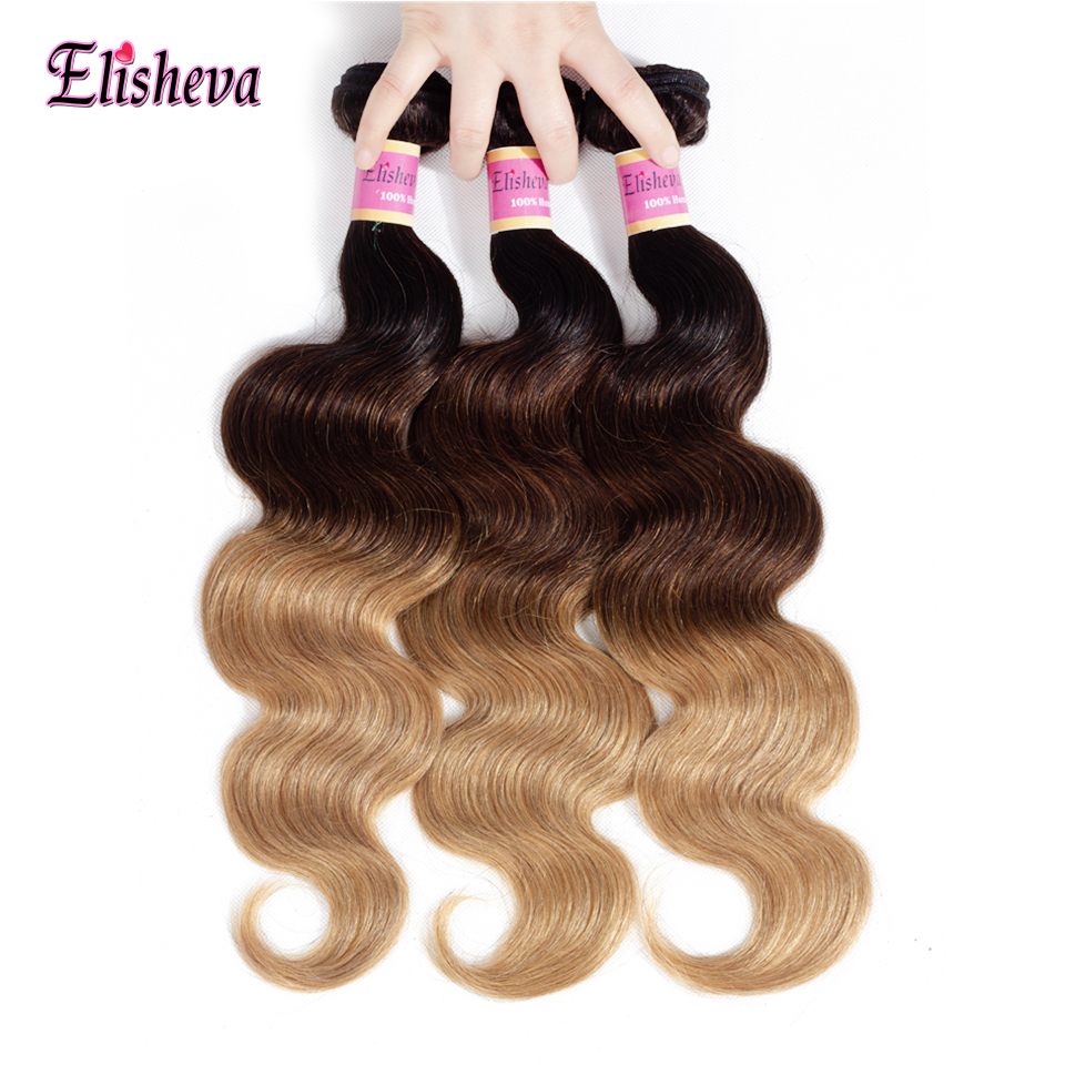 Body Wave Hair Bundles Brazilian Hair Weave Bundles 100% Human Hair Extensions Non Remy 4 Bundle Deals Natural Color Ruiyu Hair And Digestion Helping Hair Extensions & Wigs