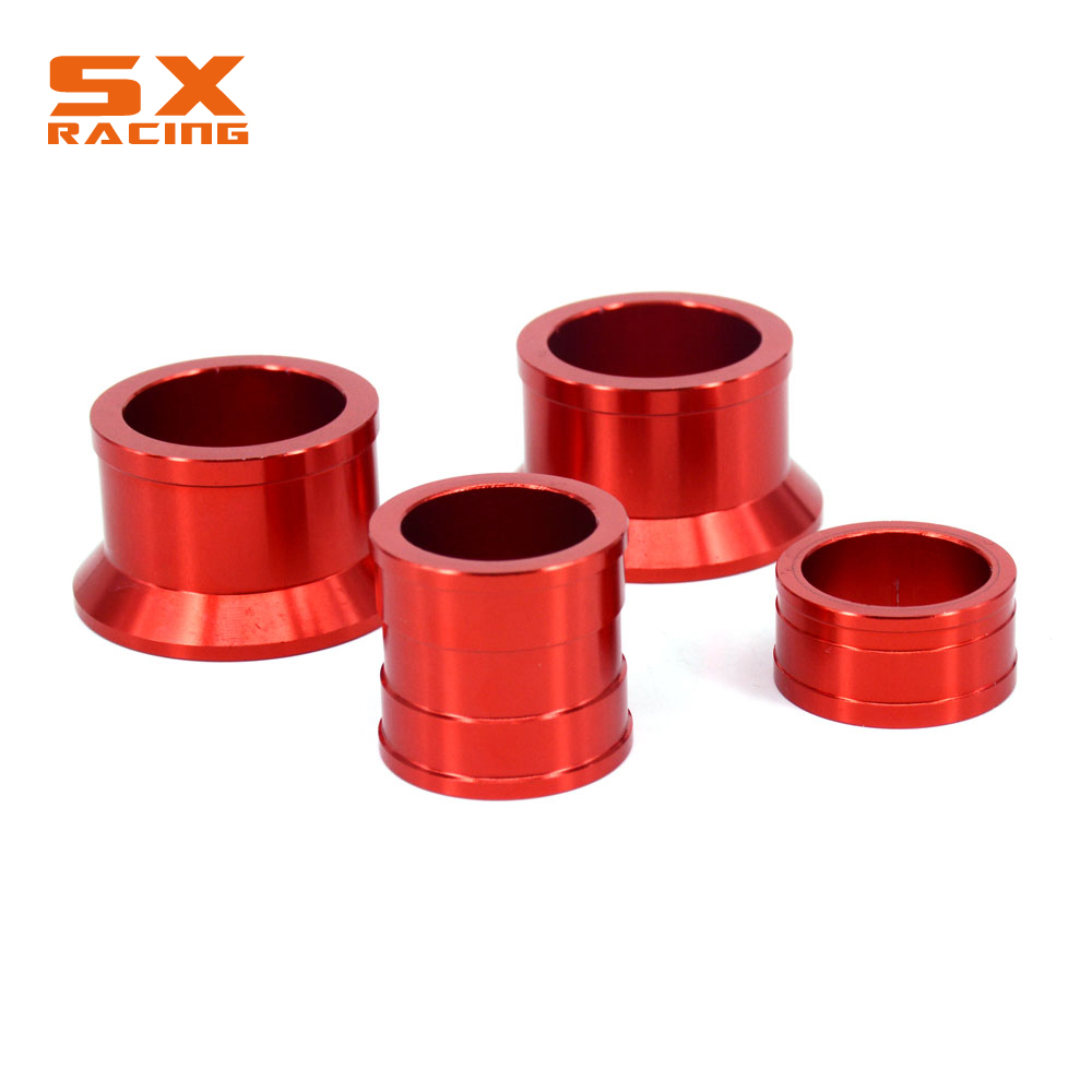 Motorcycle Front And Rear Wheel Hub Spacer Set For HONDA CR125R CR250R 02-07 CRF250R CRF250X 04-14 CRF450R 02-14 CRF450X