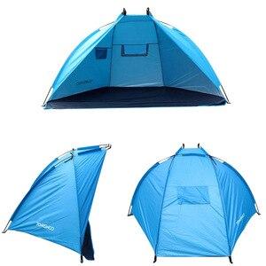 Image 2 - TOMSHOO Einzigen Schicht Strand Zelte 2 Personen Camping Zelt Anti UV Sonne Unterstände Markise Schatten Im Freien Zelt für Angeln Picknick wandern