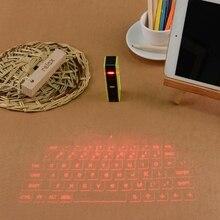Портативный Мини Bluetooth Виртуальная лазерная проекции клавиатуры Клавиатура для смартфонов