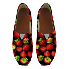 Summer Slip On Flats Strawberry Fruit Funny Breathable Loafers Shoes Ladies Women Sneakers Boat Shoe Moccains Vulcanize Footwear