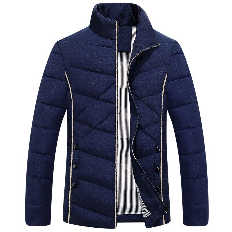 ФОТО New Trend Winter Jacket Men/Boy Doudoune Homme Hiver 2016 Mens Fashion  Zipper Slim Fit Cotton Down Jackets Xxxxl