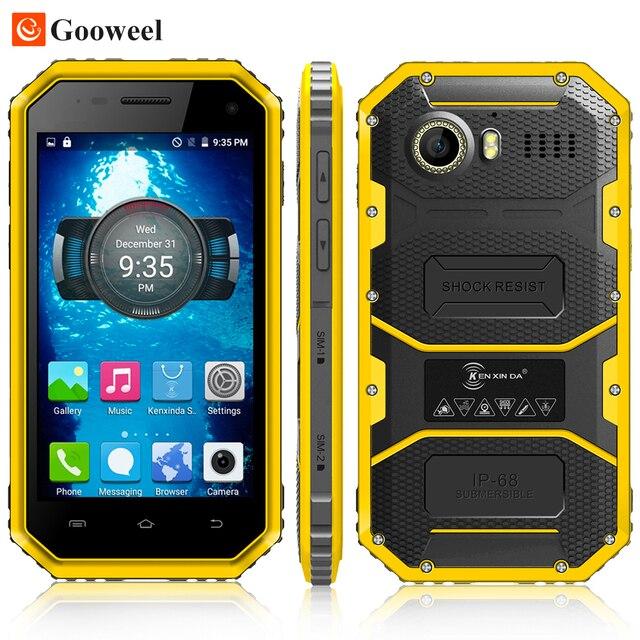 Kenxinda W6 мобильного телефона Android 5.1 Водонепроницаемый + Противоударный + Пылезащитный Смартфон 4.5 ''MTK6735 Quad Core 1 ГБ RAM 8 ГБ ROM GPS