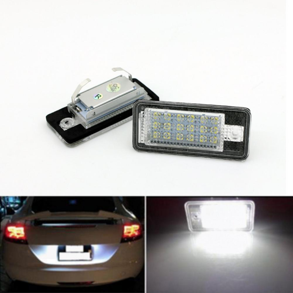 2017 New CAN-bus White Error Free LED License Plate Light Lamp For Audi A3 A4 A6 S6 A8 Q7