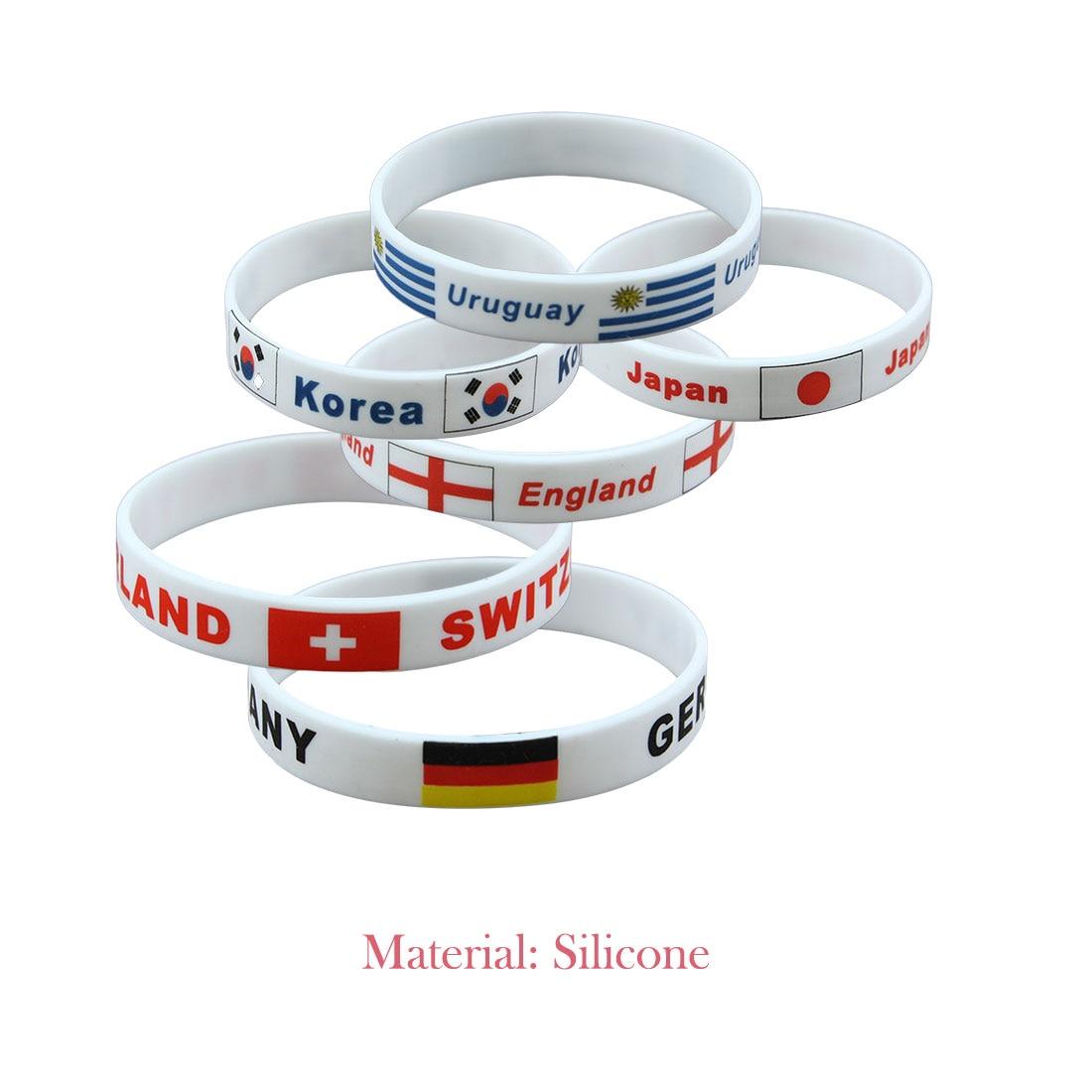 Brand New 1pcs Football Fans Bracelet Soccer fan Accessories Football Silicone Bracelet Cheerleading