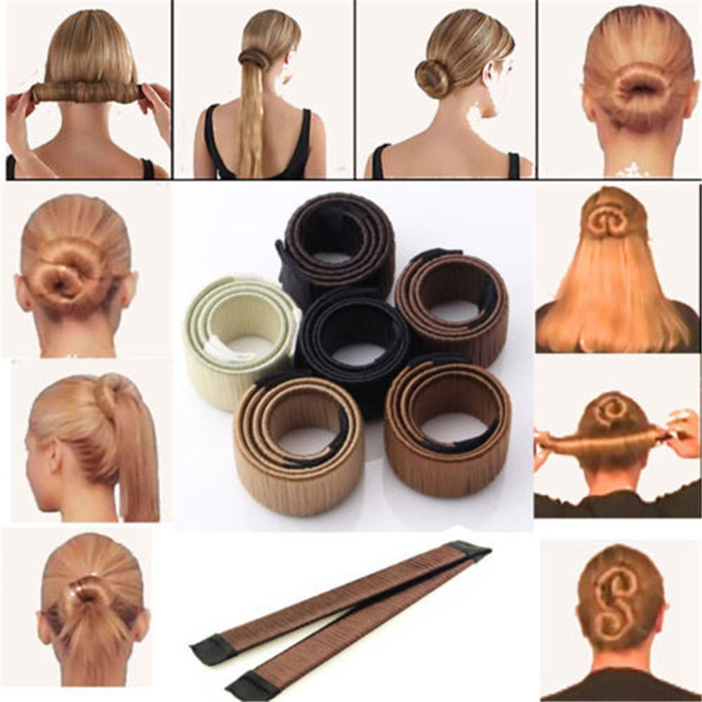 New 1pc Magic Hair Styling Multi Function Hair Donut Girls Hair Accessories French Twist Magic DIY Tool Bun Hair Maker