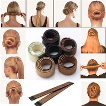 1 pc Synthetic Wig Donut Hair Bun Maker women Headband Magic bun maker Hair Accessories French Dish Twist Hair style Tool