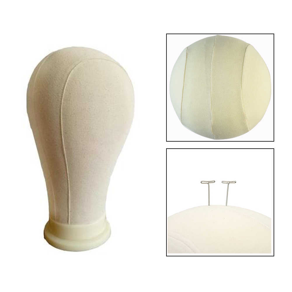 "21""/22""/23""/24""/25"" Canvas Mannequin Head Wig Stand For Making Wigs Styling Display Beige Manikin Maniquin Head"