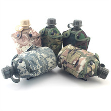 8 style 1000ML Large Capacity Sport Outdoor HDPE Kettle Portable Water Bottle Folding 700ml Mug In Military Camouflage Bag