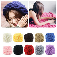 Super Thick 10pcs Cotton Colorful Dye Scarf Hand Knitted Yarn For Hand Knitting Scarf Soft Cotton