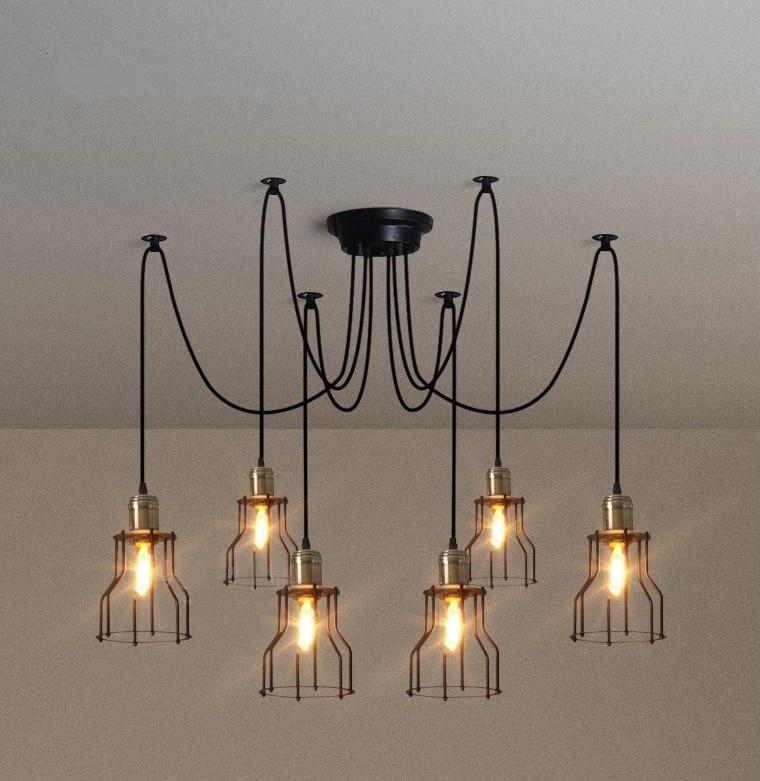 Modern Nordic Retro Edison Bulb Light Chandelier Vintage ...