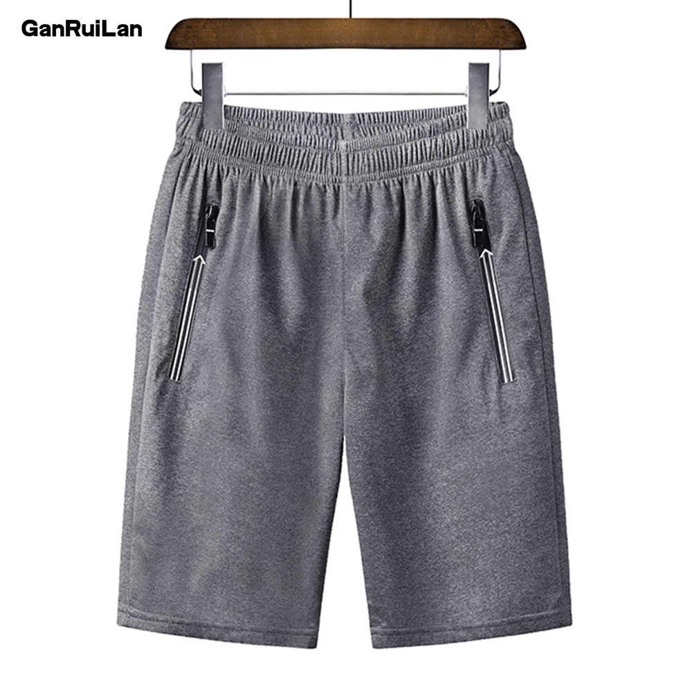2019Men's Casual Summer Drawstring Jogger Shorts Beach  Polyester Trousers Elastic Waist Male Short Pants Brand Clothing DK19023
