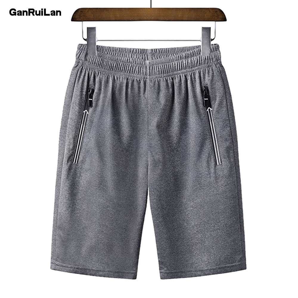2019Men's Casual Summer Drawstring Jogger Shorts Beach  Polyester Trousers Elastic Waist Male Short Pants Brand Clothing DK19023