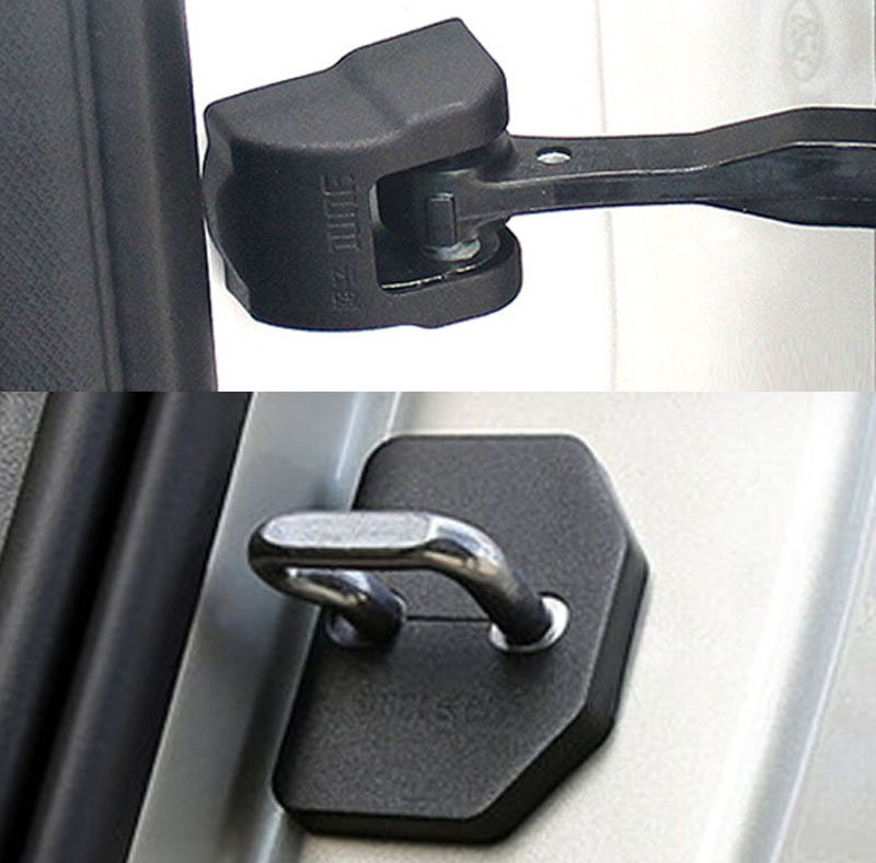 2IN1 FIT FOR VOLVO XC90 V40 2015 2016 DOOR LOCK COVER ARM CHECK CHECKER BUCKLE STOPPER CATCH CASE CAP HINGE SHELL PROTECTOR