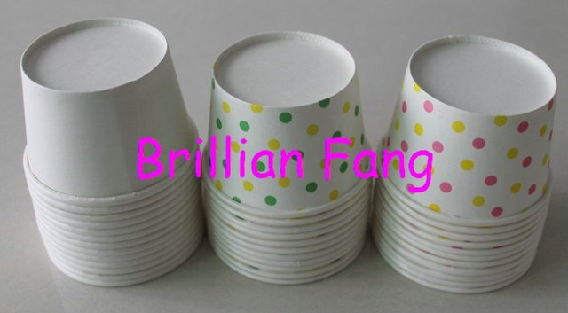 30pcs Mixed Polka Dot All color Round paper cupcake case ice cream cups & containers NO Lid by Hongkong airmail