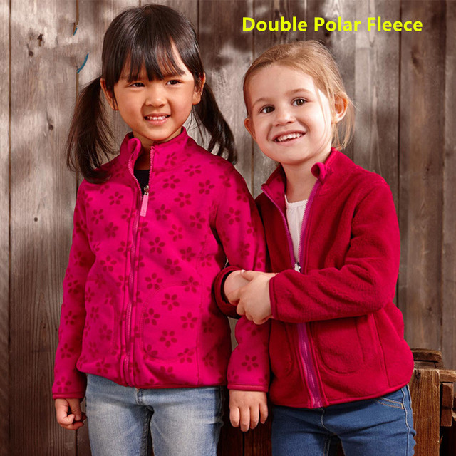 For 2-7 years High-Quality Autumn Winter  children hoodies  2 way Girls Doublepolar Fleece jackets and coats kids sweatshirt