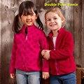 Para 2-7 anos de Alta Qualidade Outono Inverno crianças hoodies 2 way Meninas Doublepolar jaquetas de Lã e casacos camisola dos miúdos