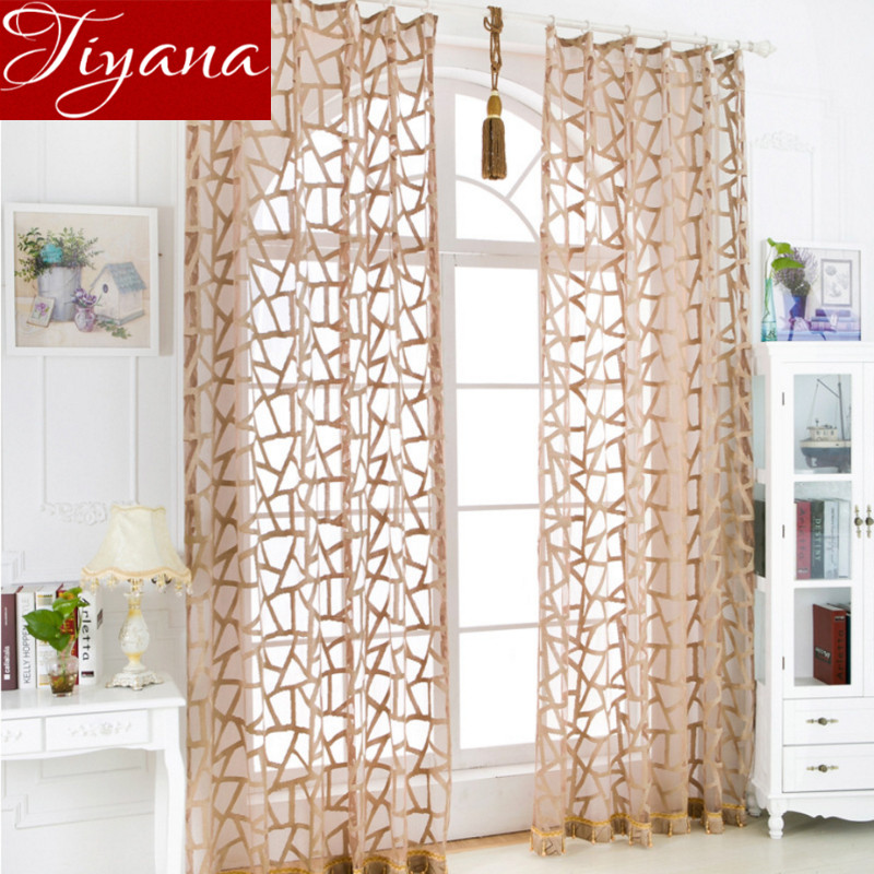 branches geometric curtains window screen yarn panel modern simple living room balcony kitchen curtains tulle panel