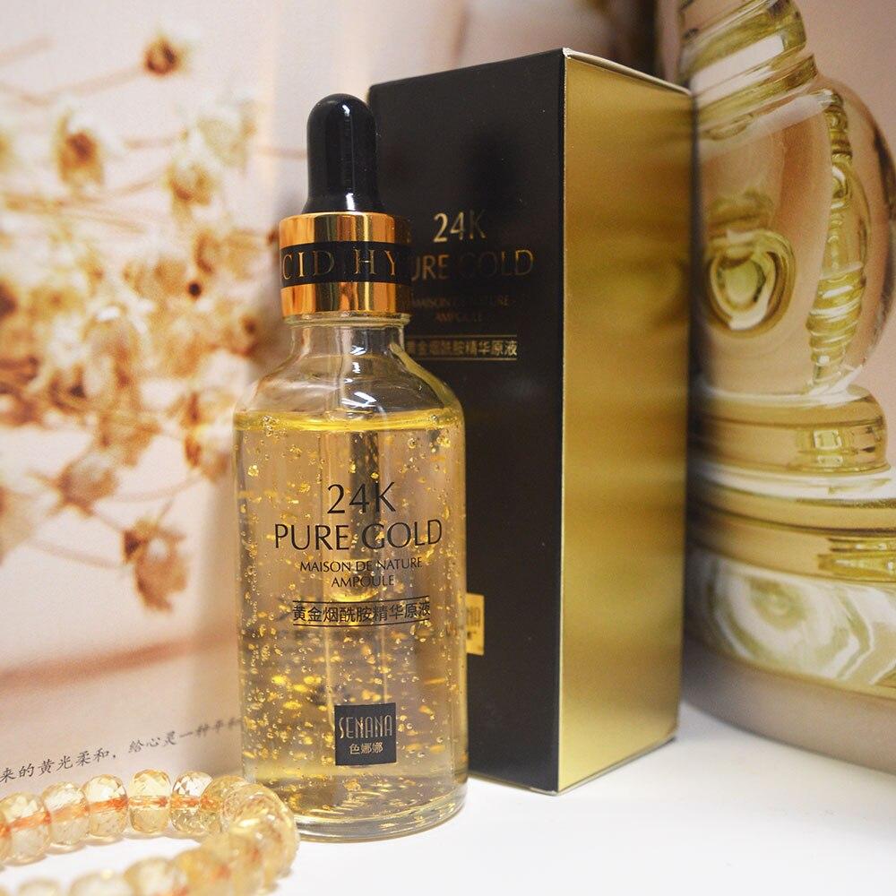 24k Gold Serum Facial Whitening Face Serum Acido Hialuronico Facial Anti Aging Collagen Essence Skin Care   Hyaluronik Asit