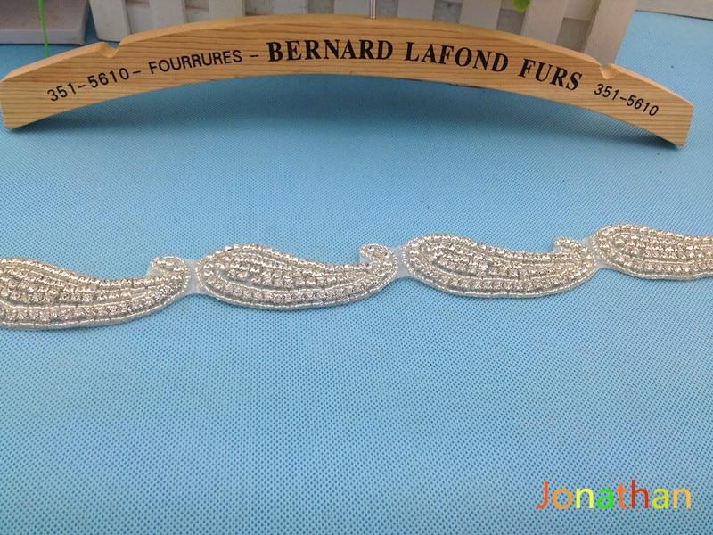 satin Flower Sash and headband with pearl font b wedding b font font b Bridal b