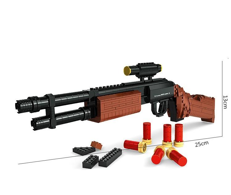M870 Modular Combat Shotgun Gun Weapon Arms Model 11 3d 527pcs