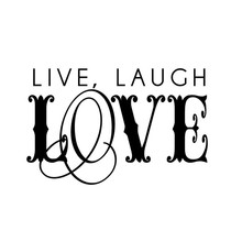 Live Laugh Love Art Word Wall Sticker Bedroom Headboard Vinyl Removable DIY Home Decor Hot Sale