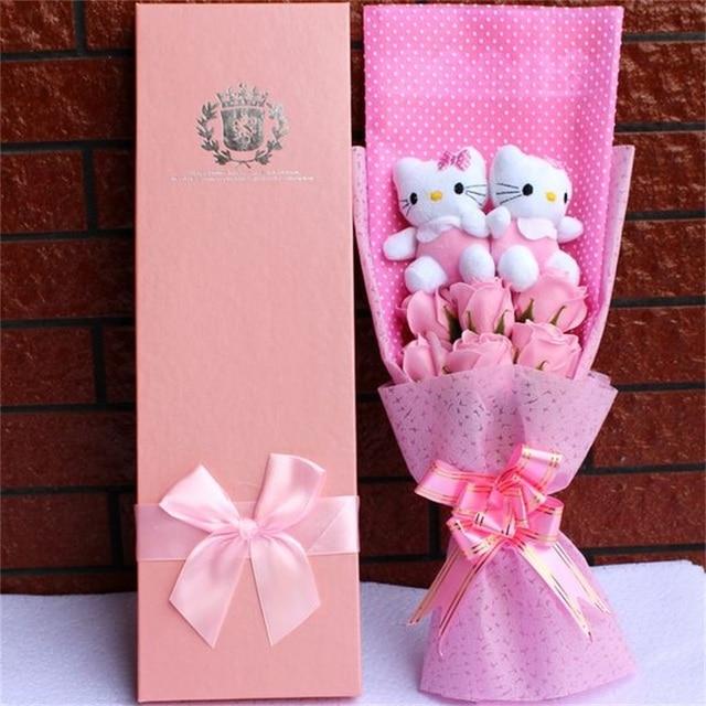 Diy Cartoon Plush Toys Stitch Stuffed Animal Doll Bouquet For Graduation/birthday / Wedding / Christmas Day For Girls Decoration 3