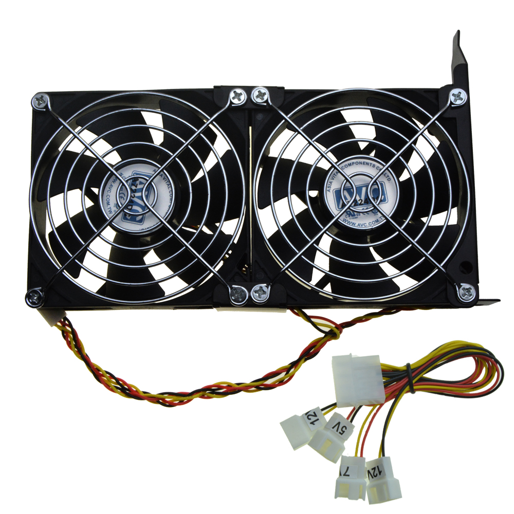 Universal GPU Double Fan Partner VGA Dual Cooler 90mm Ultra Quiet Desktop Computer Chassis PCI Express Graphics Card Cooling 9CM free shipping diameter 75mm computer vga cooler video card fan for his r7 260x hd5870 5850 graphics card cooling