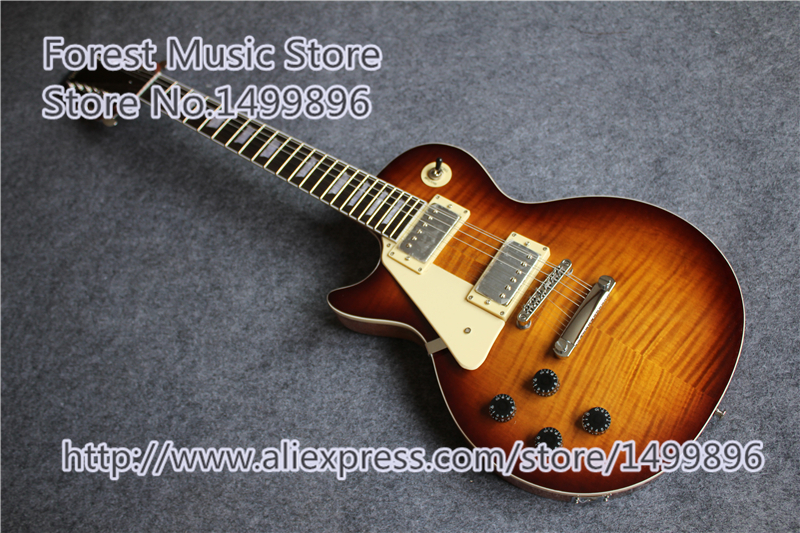 Custom Left Handed 12 String LP Electric Guitar Vintage Sunburst Mahogany Body Free Shipping free shipping new big john hollow 12 strings electric guitar with mahogany body for jazz music f 3022