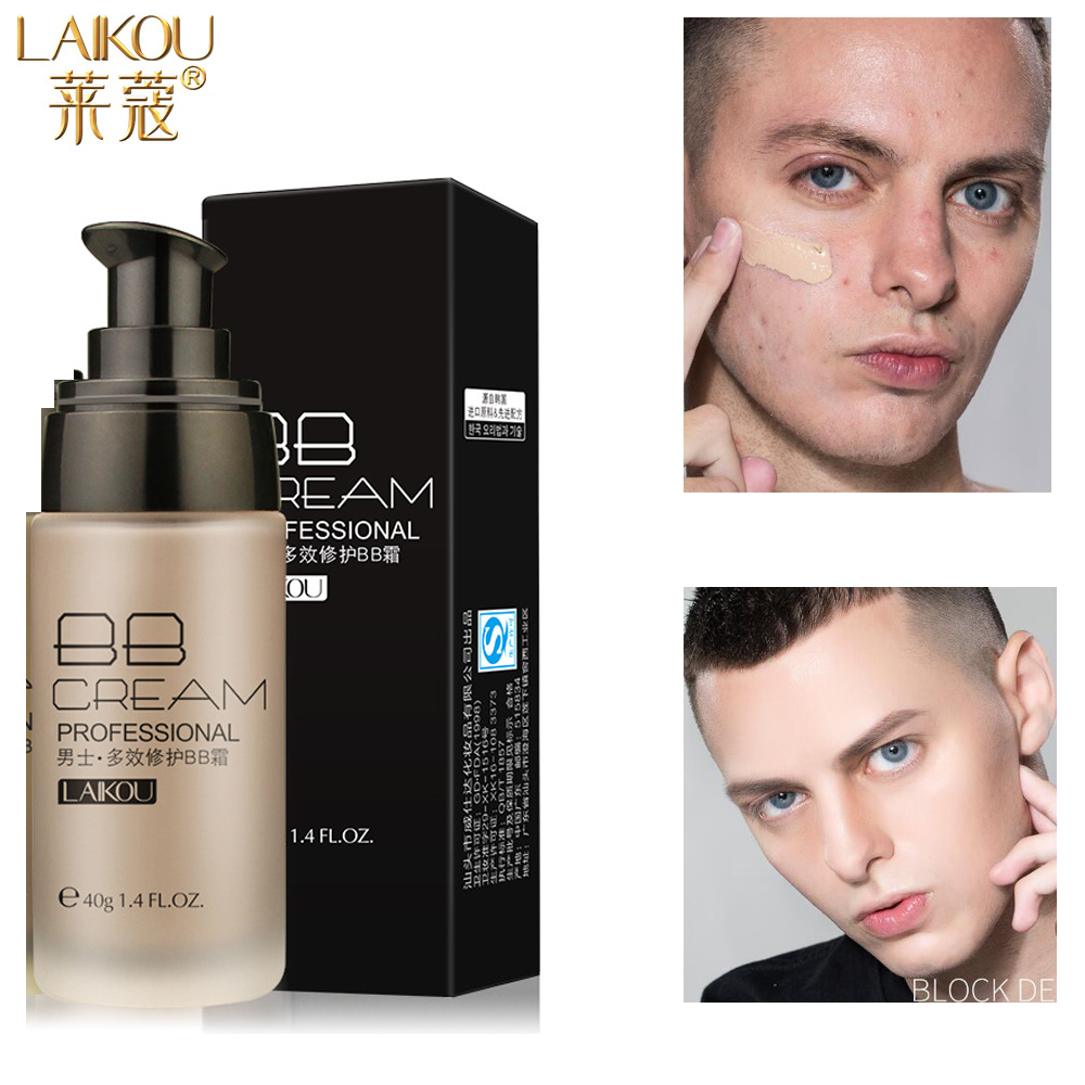 LAIKOU Men BB Cream Face Cream Natural Whitening Skin Care Men Effective Care Sunscreen Face Foundation Base Makeup Skin Color image