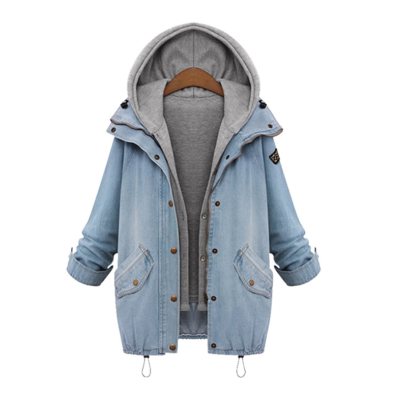 Compare Prices on Hooded Denim Jacket Women- Online Shopping/Buy