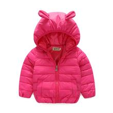 Европейский Стиль Новый 2016 зима мальчик или девочка пальто детская одежда теплая траншеи утолщение дети пальто куртки