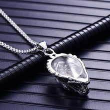 Best Stainless Steel Punk Wolf Necklace Cheap