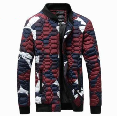 New Men Autumn and Winter Warm Cotton Couples Jackets Stand Collar Long Sleeve Clothes Slim Plus Size Clothing Fashion Coat Tops