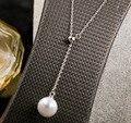 100% стерлингового серебра 925 ожерелья & подвески Болл и Точка r ожерелье для женщин высшего качества! рождественский Подарок БЕСПЛАТНАЯ ДОСТАВКА