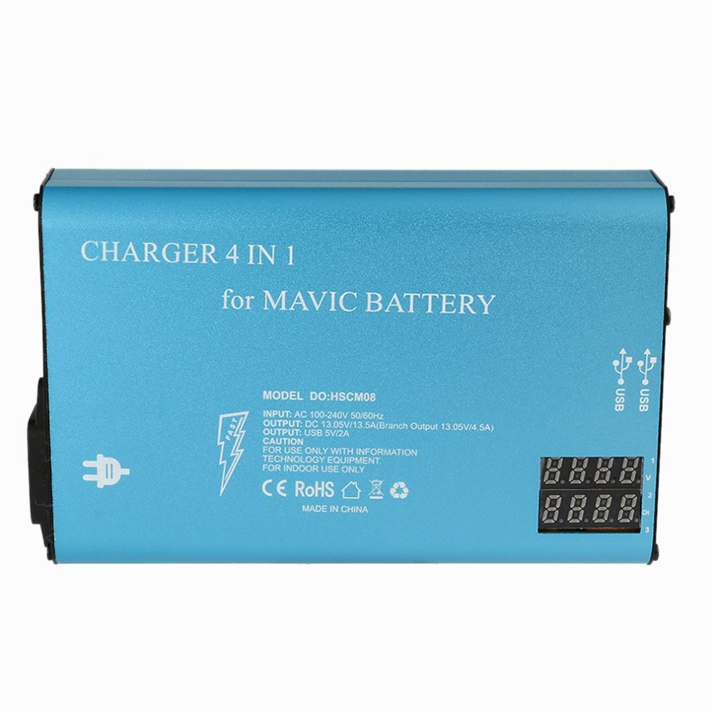 4 in 1 Smart Quick Charge Rapid Multi Battery Parallel Charger for DJI Mavic Pro Battery and Remote Controller Transmitter dji mavic pro remote controller suppor dual controller mode for mavic pro control quadcopter rc drones original accessories