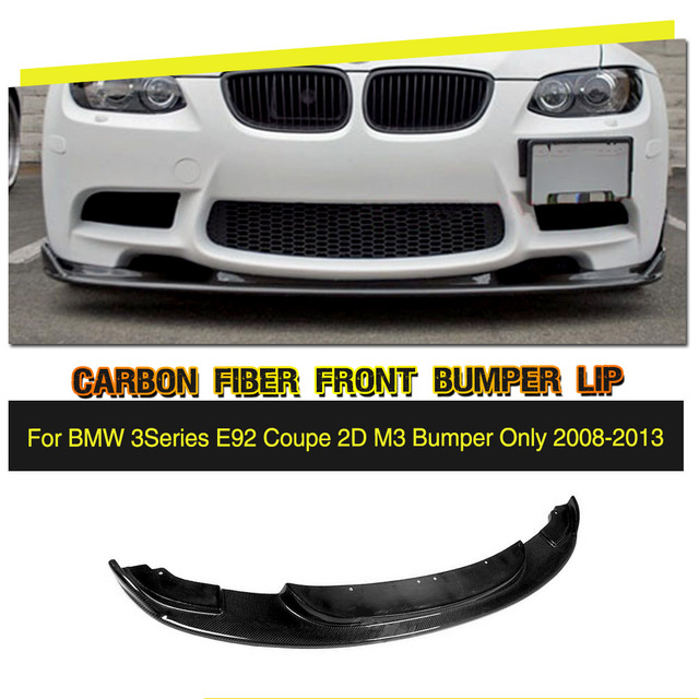 Carbon Fiber / FRP Car Racing Front Bumper Lip splitters Spoiler Chin Protector for BMW 3 Series E90 E92 E93 M3 2007 - 2013