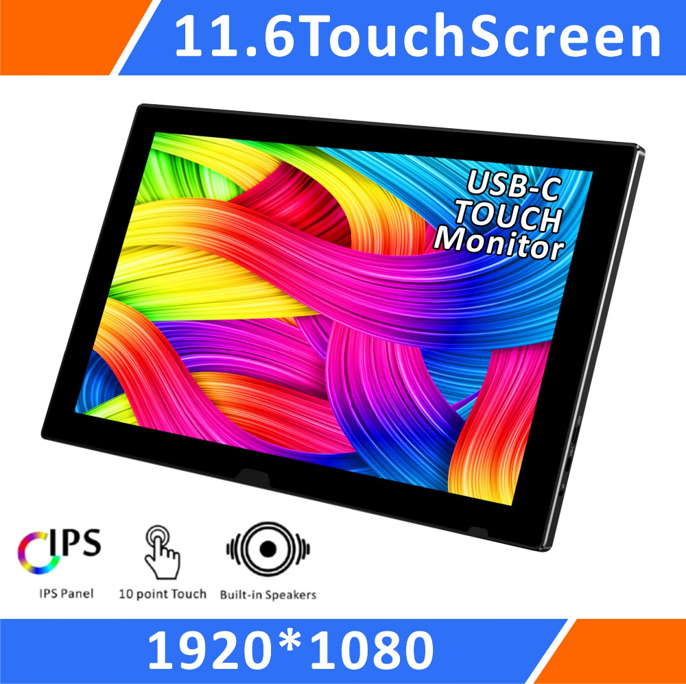11.6 Inch LCD Screen 1080P FHD USB-C Capacitive Touch Portable Monitor(T116C)
